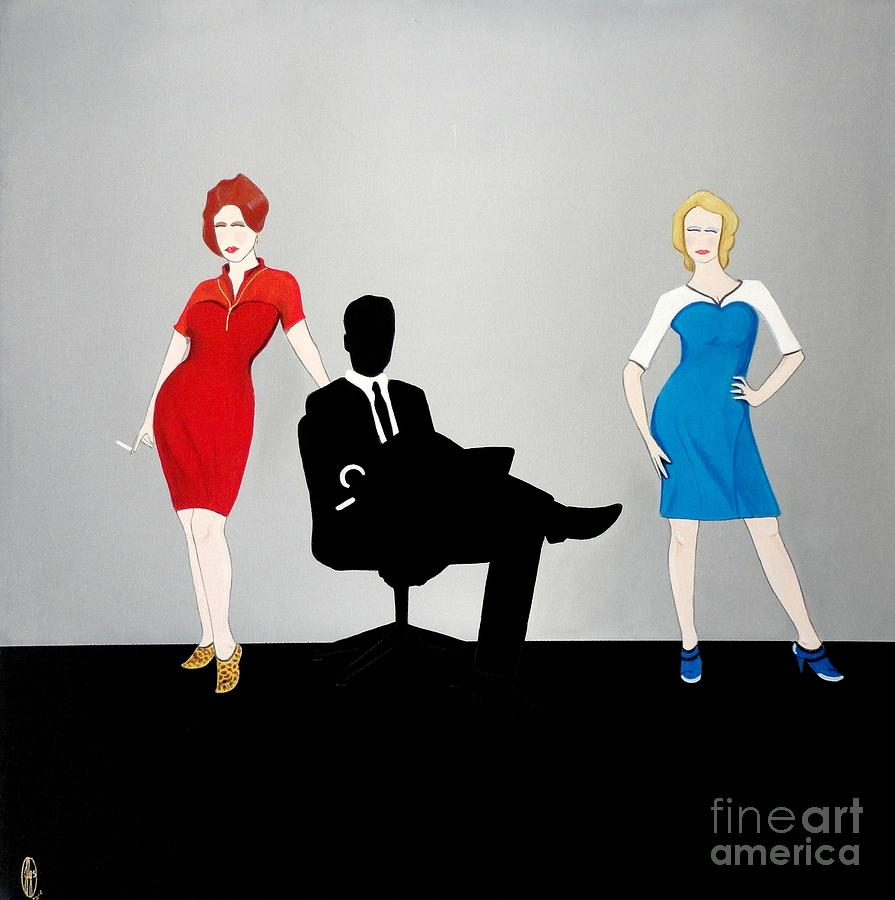 Mad Men In Technicolor Painting  - Mad Men In Technicolor Fine Art Print