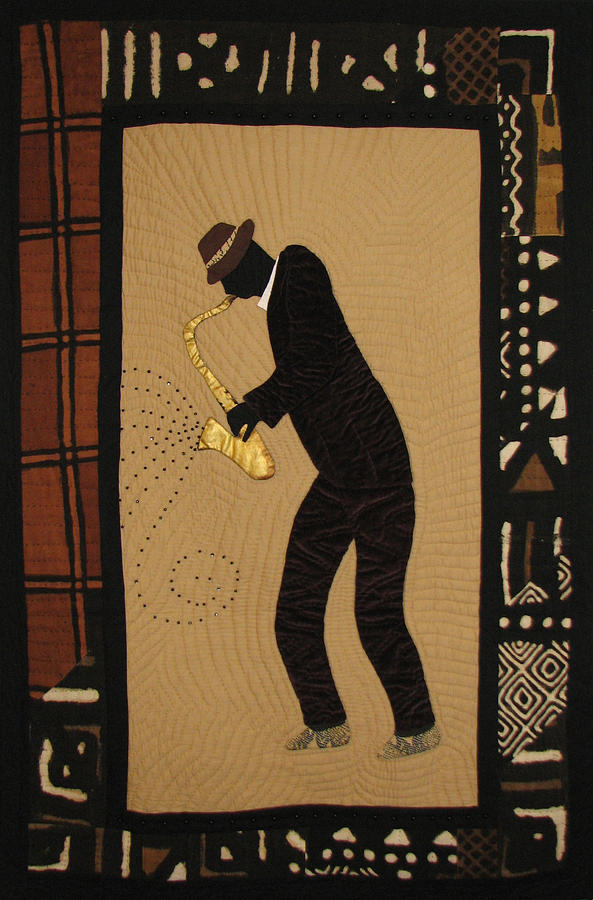 Mad Sax #1 Tapestry - Textile