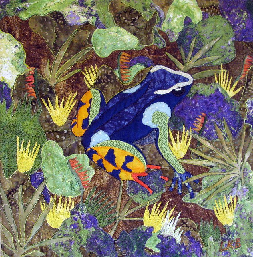 Art Quilt Tapestries - Textiles Tapestry - Textile - Madagascar Mantella by Lynda K Boardman