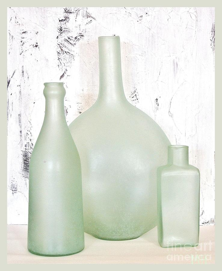 Made In India Sea Glass Bottles Photograph