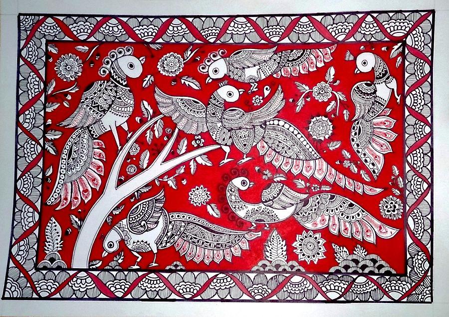 Dancing Peacock Painti...