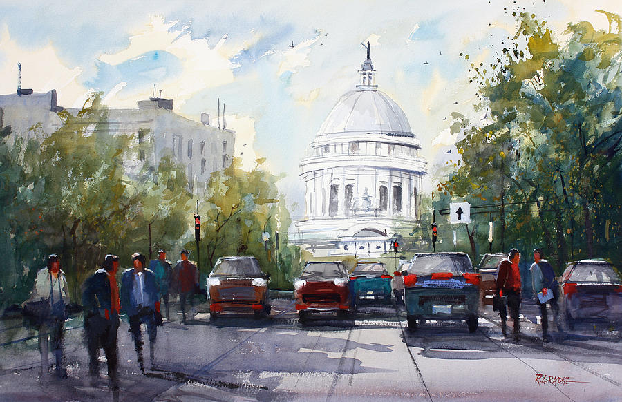 Madison - Capitol Painting  - Madison - Capitol Fine Art Print