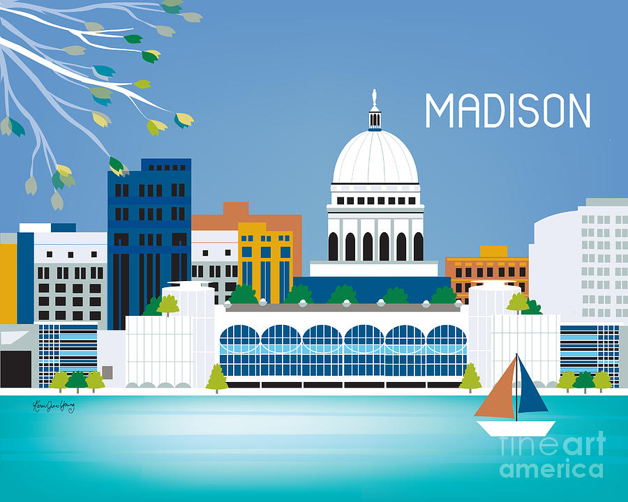 Madison Digital Art  - Madison Fine Art Print