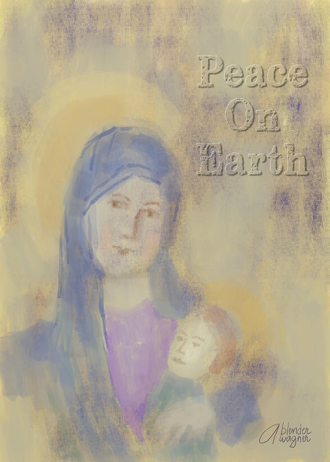 Madonna And Child Digital Art  - Madonna And Child Fine Art Print