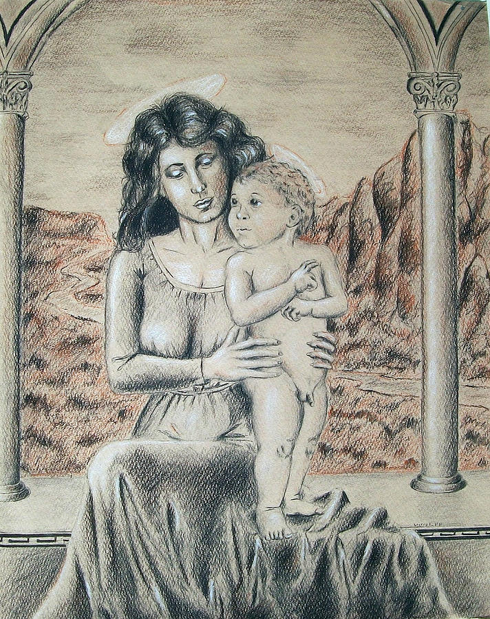 Madonna And Child Drawing