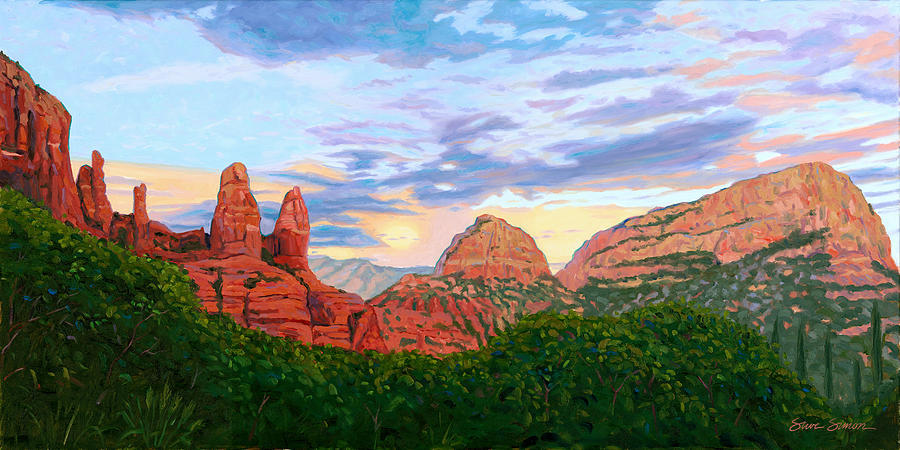 Madonna And Nuns - Sedona Painting