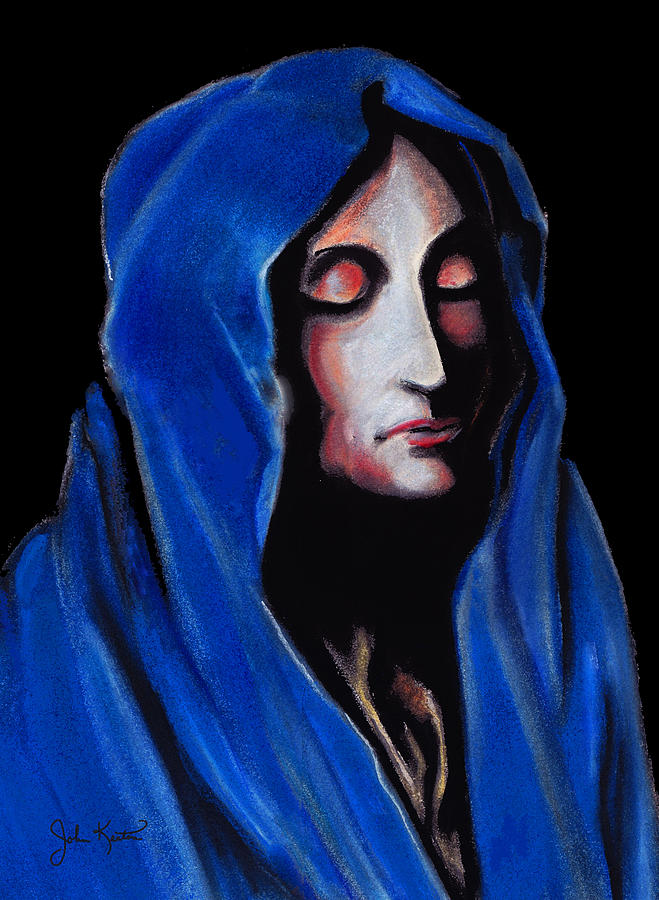 Madonna Of Sorrows Drawing  - Madonna Of Sorrows Fine Art Print