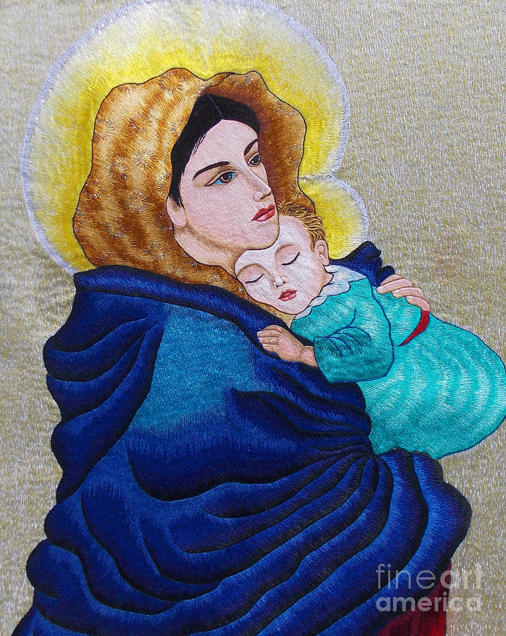 Madonna Of The Street  Tapestry - Textile