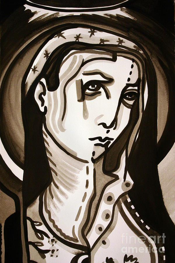 Religious Painting - Madonna by Sandoval Maciel
