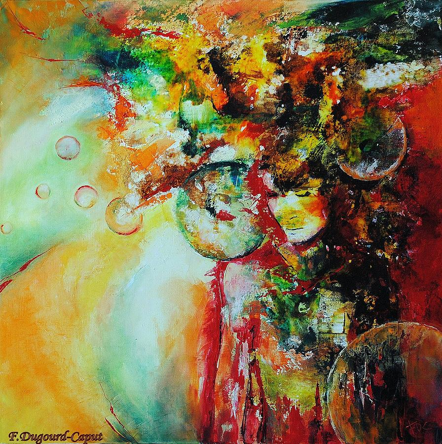 Mixed Media Painting - Maelstrom by Francoise Dugourd-Caput