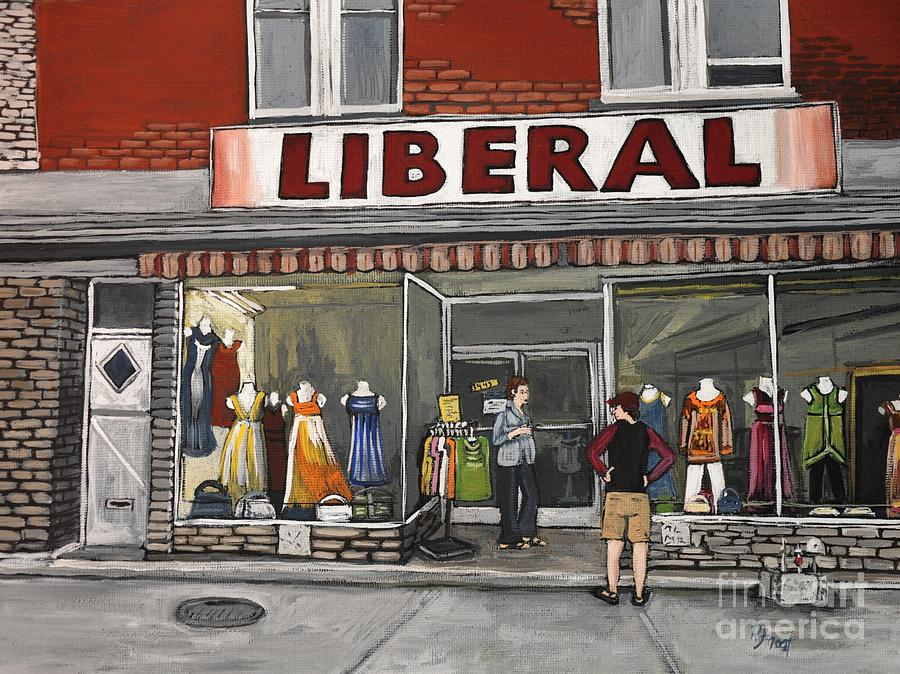 Magasin Liberal Notre Dame  Painting