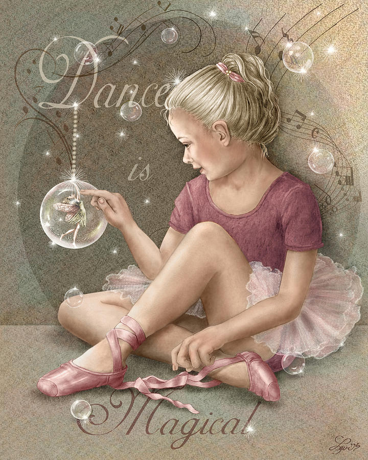 Magic Ballerina Mixed Media  - Magic Ballerina Fine Art Print