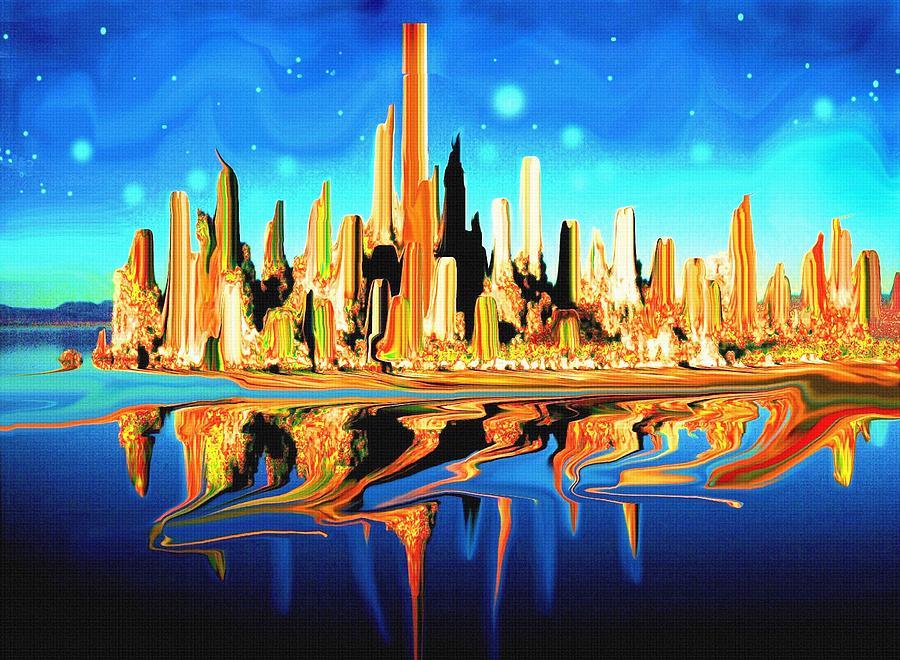 Magic City America - Fantasy Art Painting