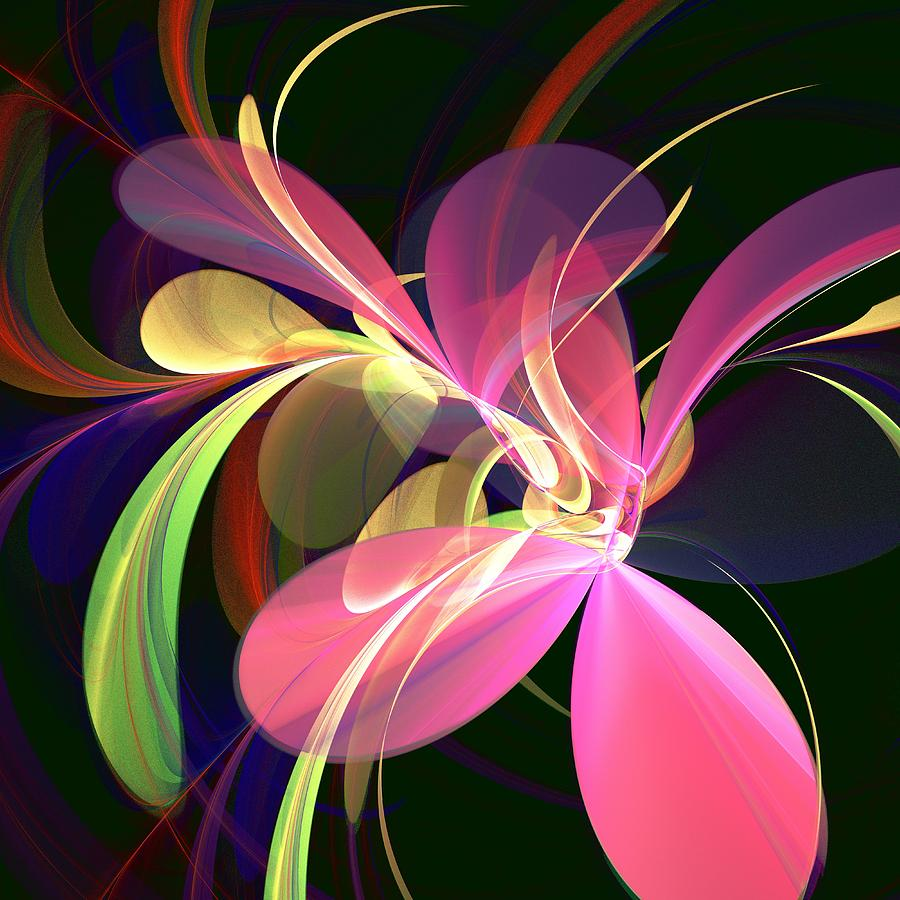 Magic Flower Digital Art  - Magic Flower Fine Art Print