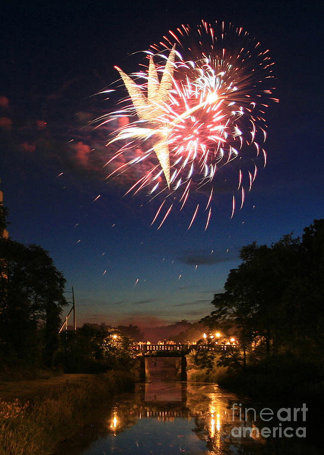 Fire Works Photograph - Magic In The Sky by Paula Guttilla