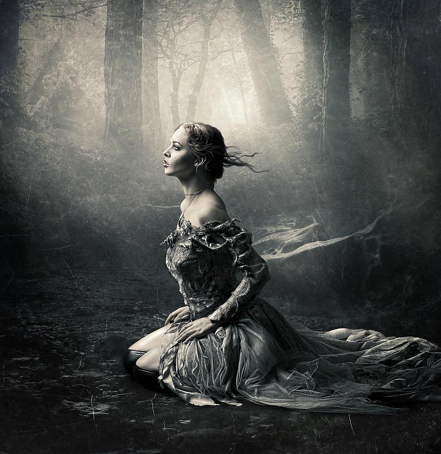 Woman Photograph - Magic Light by Cindy Grundsten