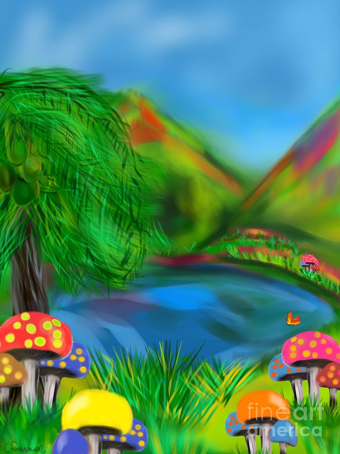 Magic Mushrooms Digital Art