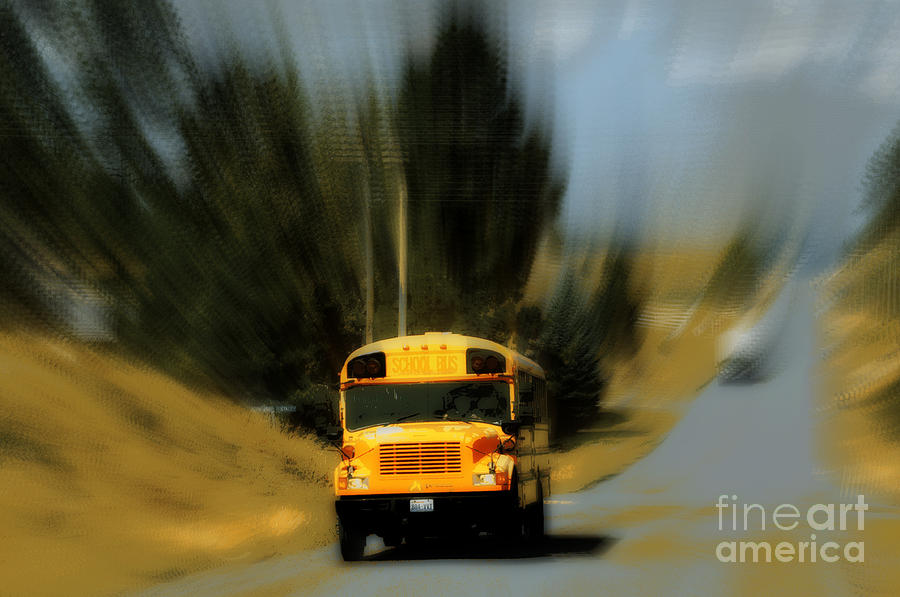 Magic School Bus Digital Art  - Magic School Bus Fine Art Print