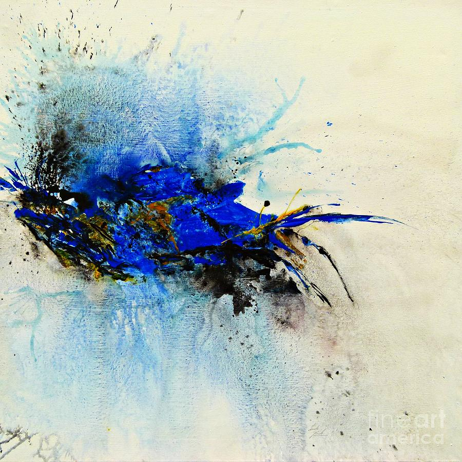 Magical Blue-abstract Art Painting by Ismeta Gruenwald