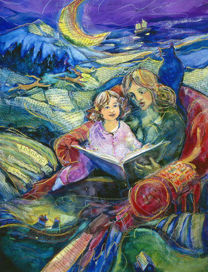 Jen Norton Painting - Magical Storybook by Jen Norton