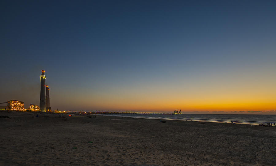 magical sunset moments at Caesarea  Photograph