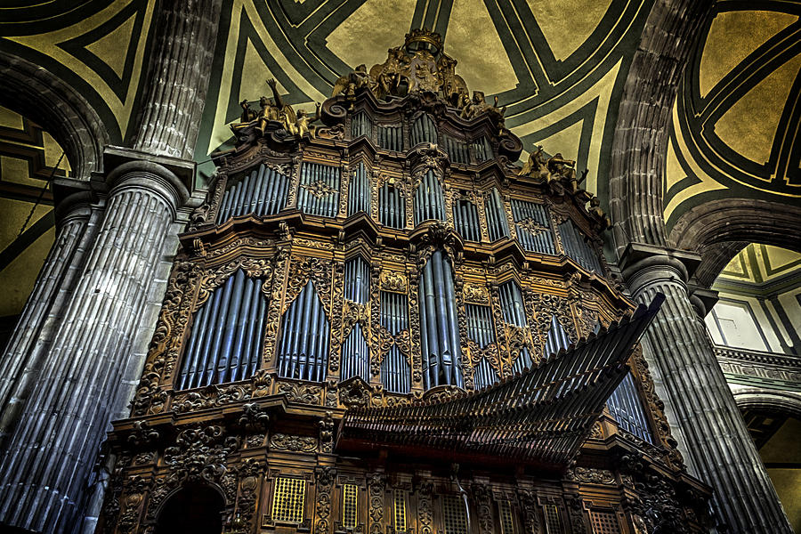 Magnificent Pipe Organ Photograph