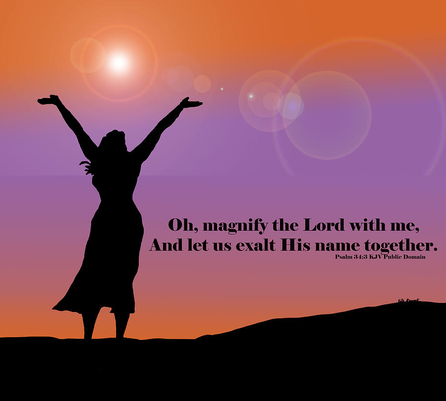 Digital Art Digital Art - Magnify The Lord by Kate Farrant