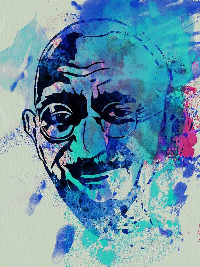 Mahatma Gandhi Watercolor Painting