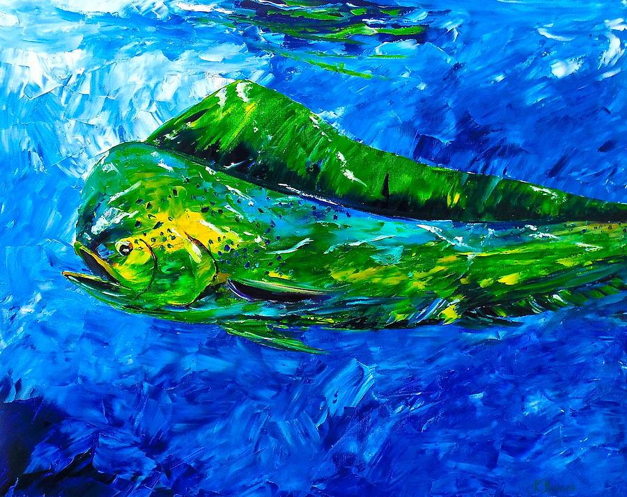 Mahi Mahi Painting By Kevin Brown Watermelon Wallpaper Rainbow Find Free HD for Desktop [freshlhys.tk]