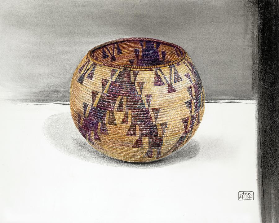 Maidu Geese Flying Basket Drawing