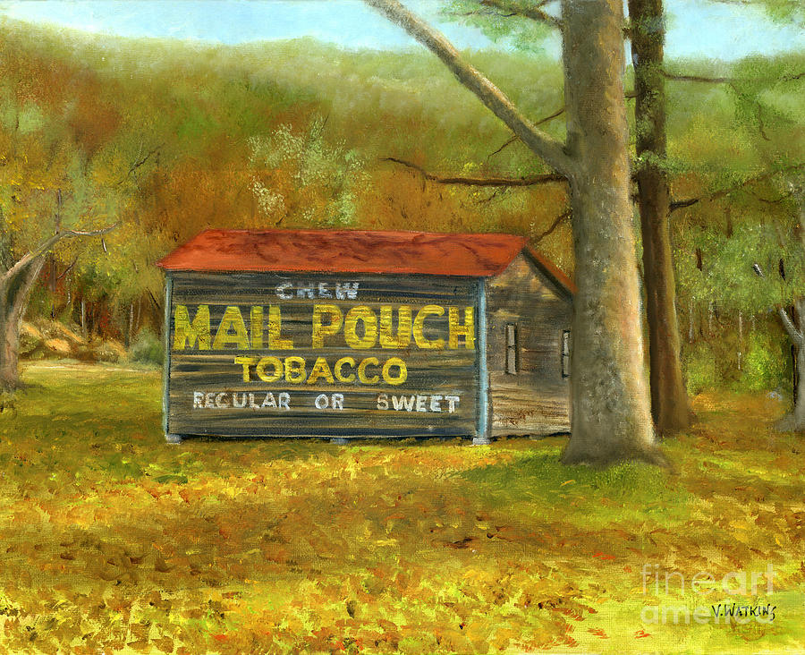 Mail Pouch Barn In Autumn Painting