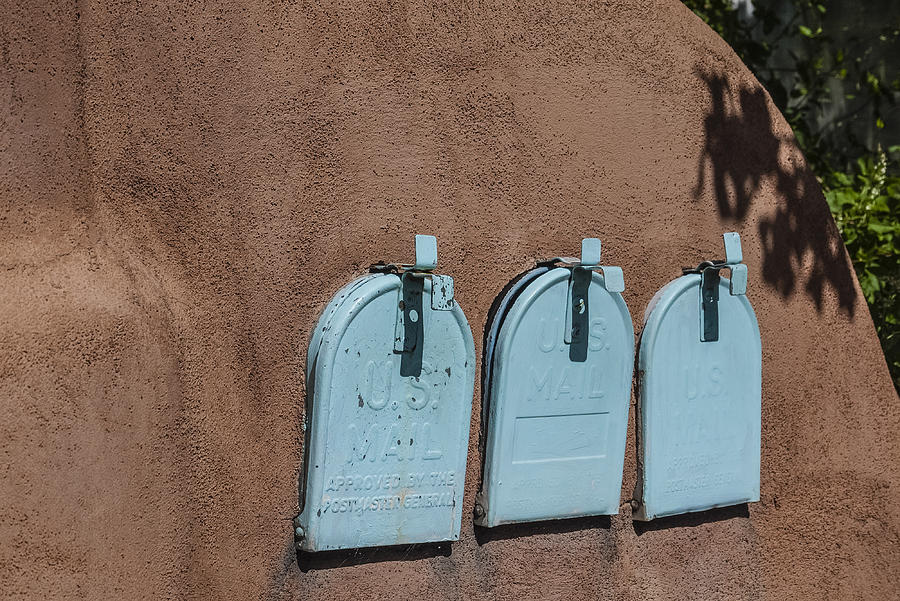 Mailboxes Santa Fe Nm Photograph  - Mailboxes Santa Fe Nm Fine Art Print