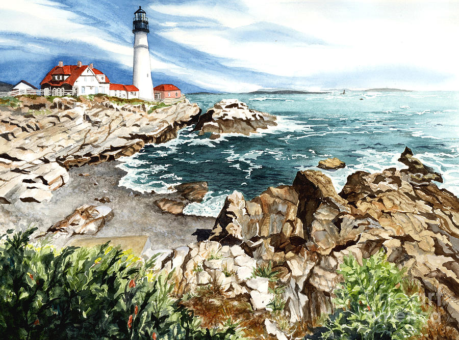Water Color Paintings Painting - Maine Attraction by Barbara Jewell