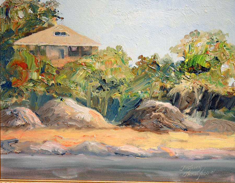 Harbor Painting - Maine Harbor House by Tommy Thompson