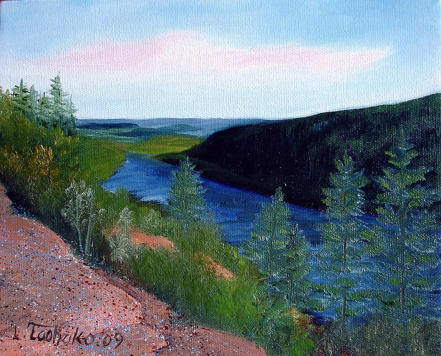 Maine Painting - Maine Jordon Pond by Laura Tasheiko