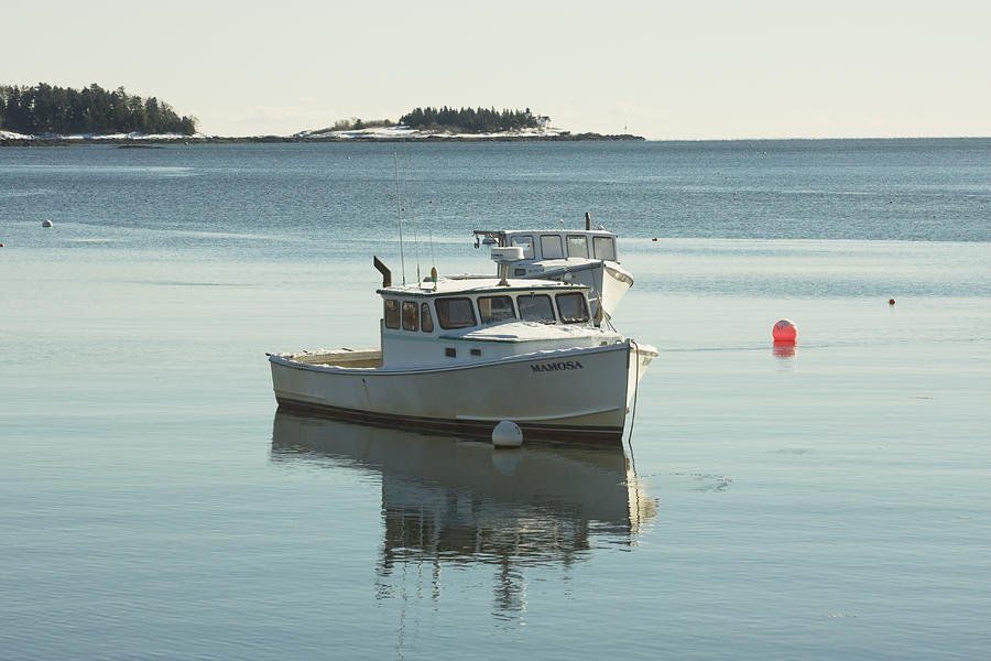 Maine Lobster Boats In Winter Photograph