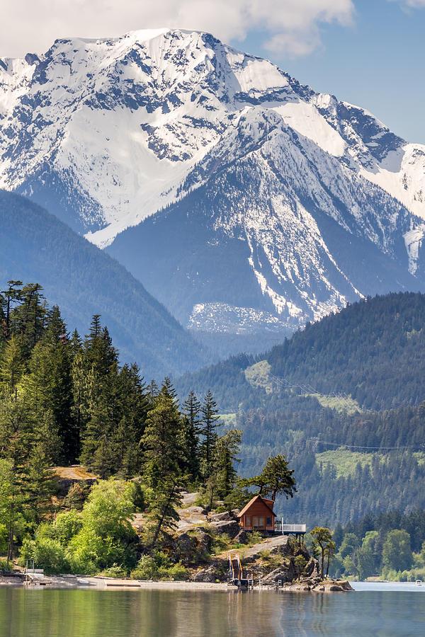 Majestic Anderson Lake Landscape Photograph