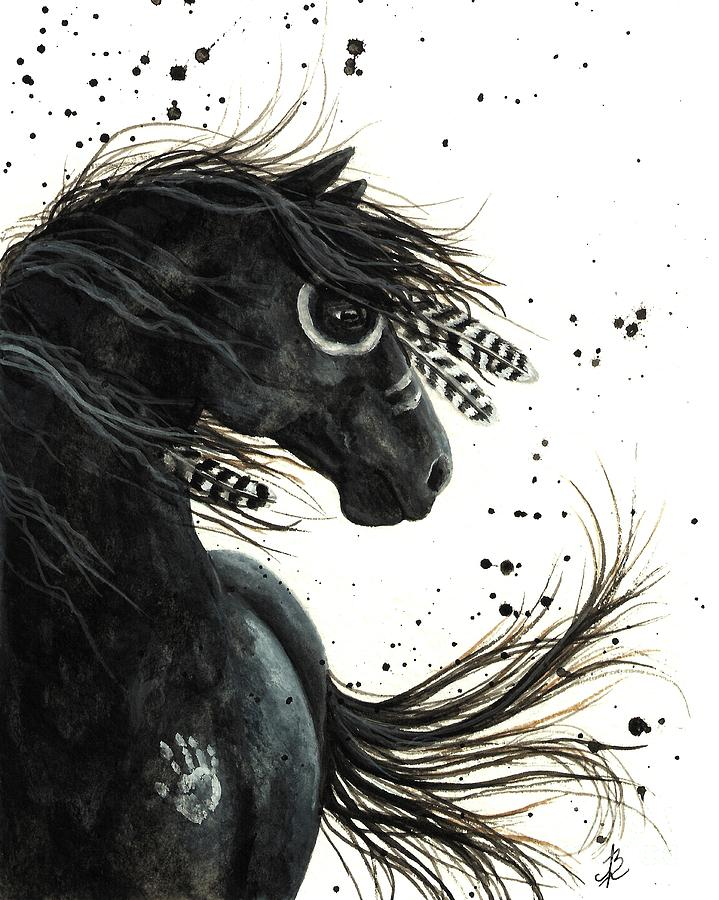 Majestic Friesian Painting