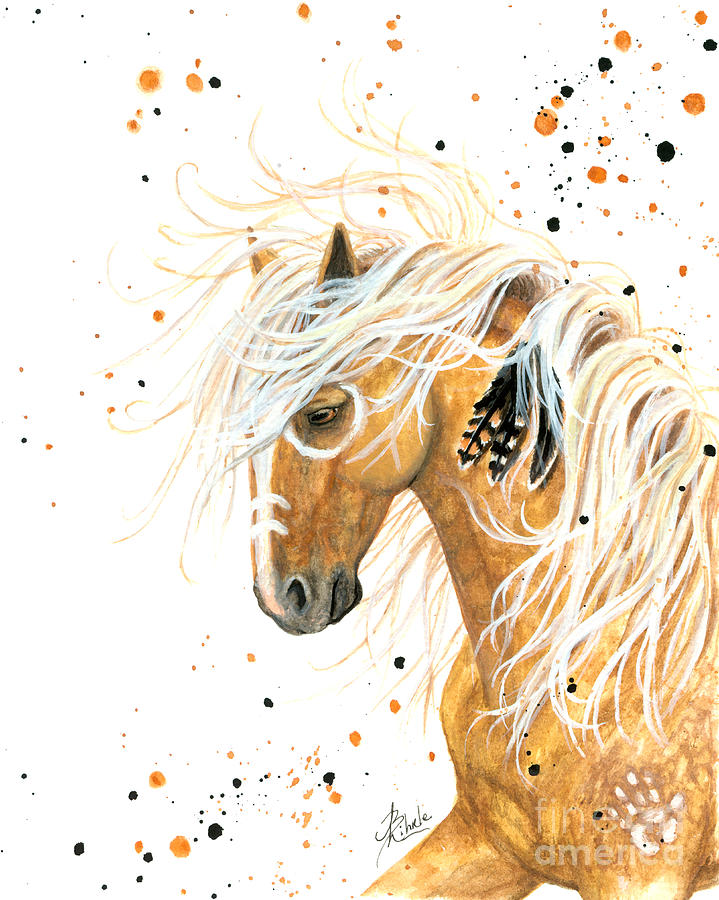 Majestic Palomino Horse 84 Painting