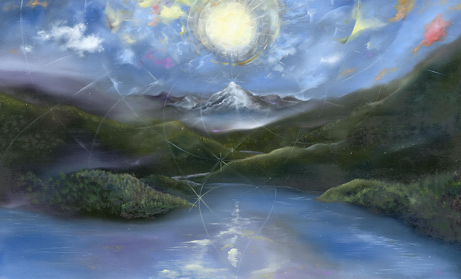 Majestik Twilight Painting  - Majestik Twilight Fine Art Print