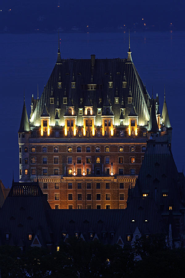 Majesty Of Chateau Frontenac In Quebec City Photograph