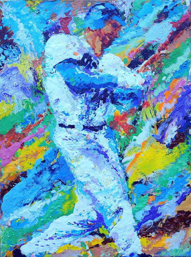 Major League Player Painting  - Major League Player Fine Art Print