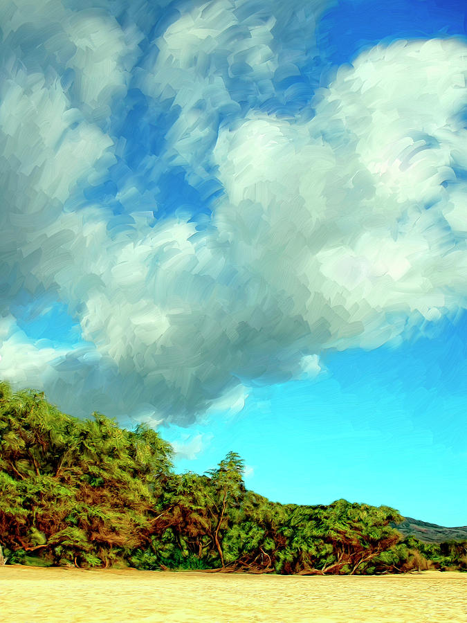 Makena Beach Maui Painting  - Makena Beach Maui Fine Art Print