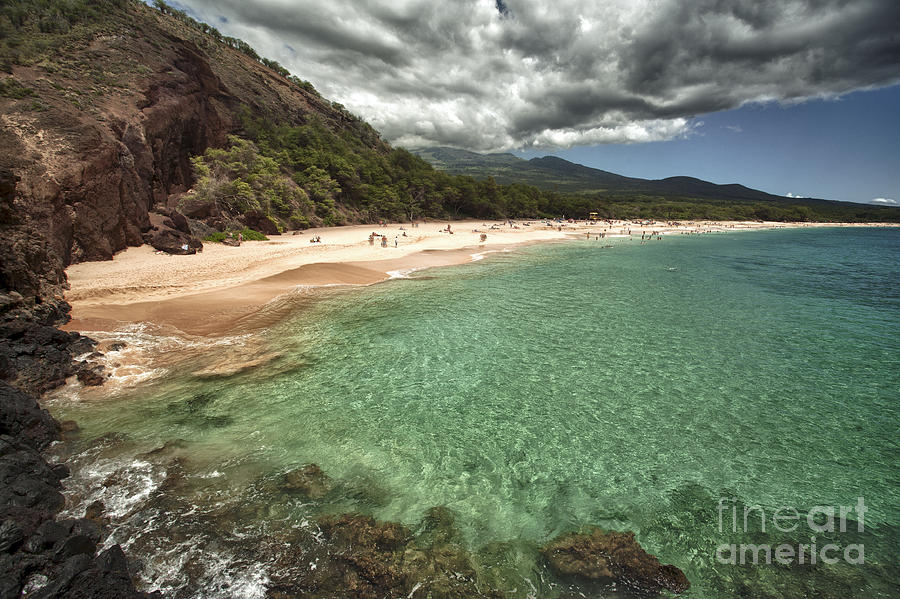Beach Photograph - Makena Beach Maui by Paul Karanik