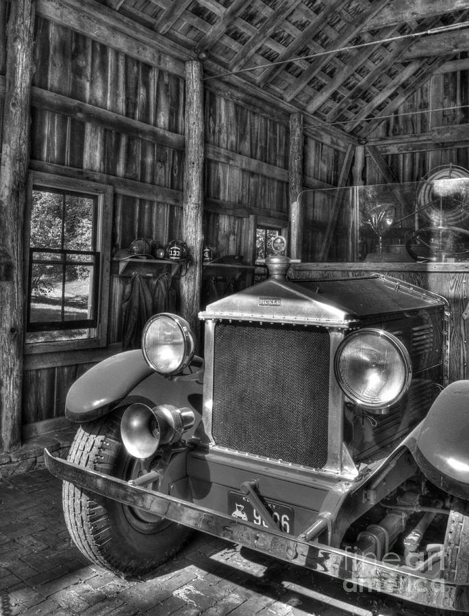 Makers Mark Firehouse 2 Bw Photograph  - Makers Mark Firehouse 2 Bw Fine Art Print