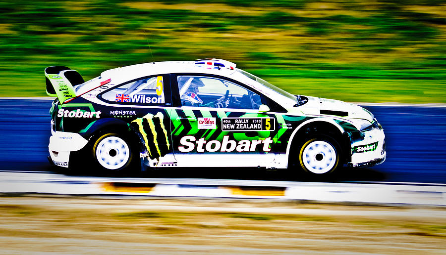 2010 Ford Focus Wrc Photograph - Malcolm Wilson Ford Focus by motography aka Phil Clark