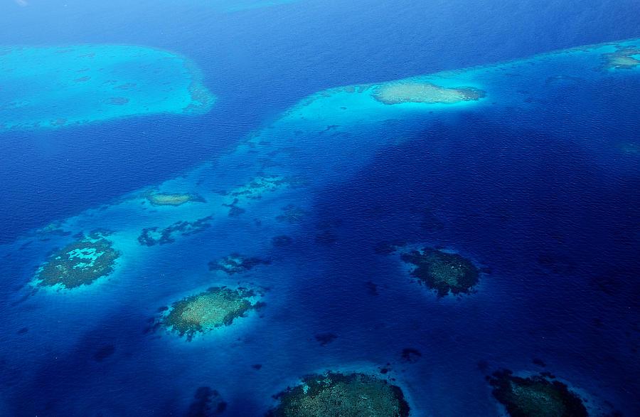 Aerial Photograph - Maldivian Reefs. Aerial Journey Over Maldivian Archipelago by Jenny Rainbow