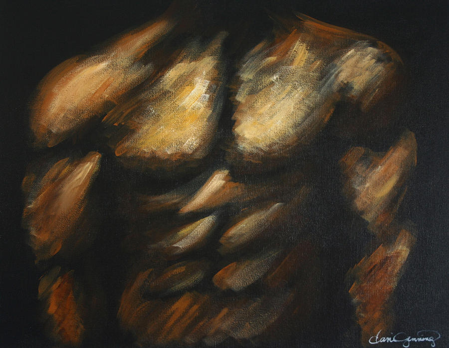 Male Bodybuilder Painting