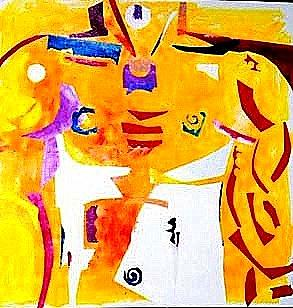 Abstract Expressionism Mixed Media - Maledom by Diane Fine