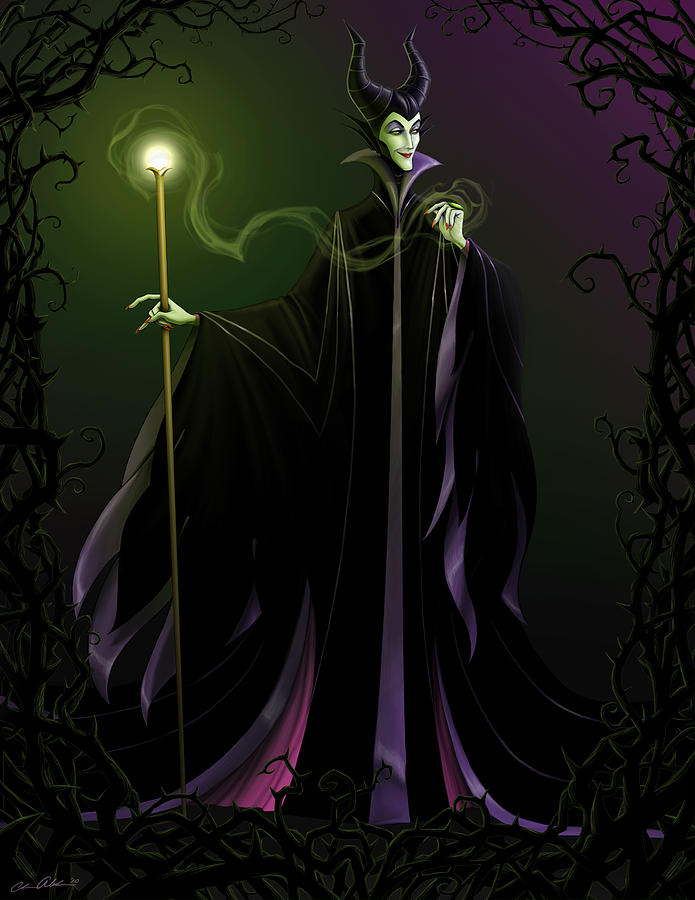 Maleficent Digital Art  - Maleficent Fine Art Print